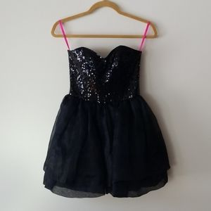 Betsey Johnson Short Sequin Skirt Dress